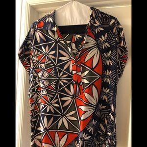 Tory Burch floral silk top. Excellent condition.